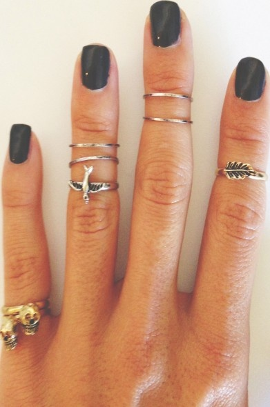 pretty nails and rings