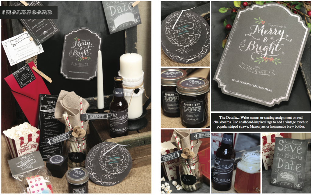 chalkboard invitations and christmas