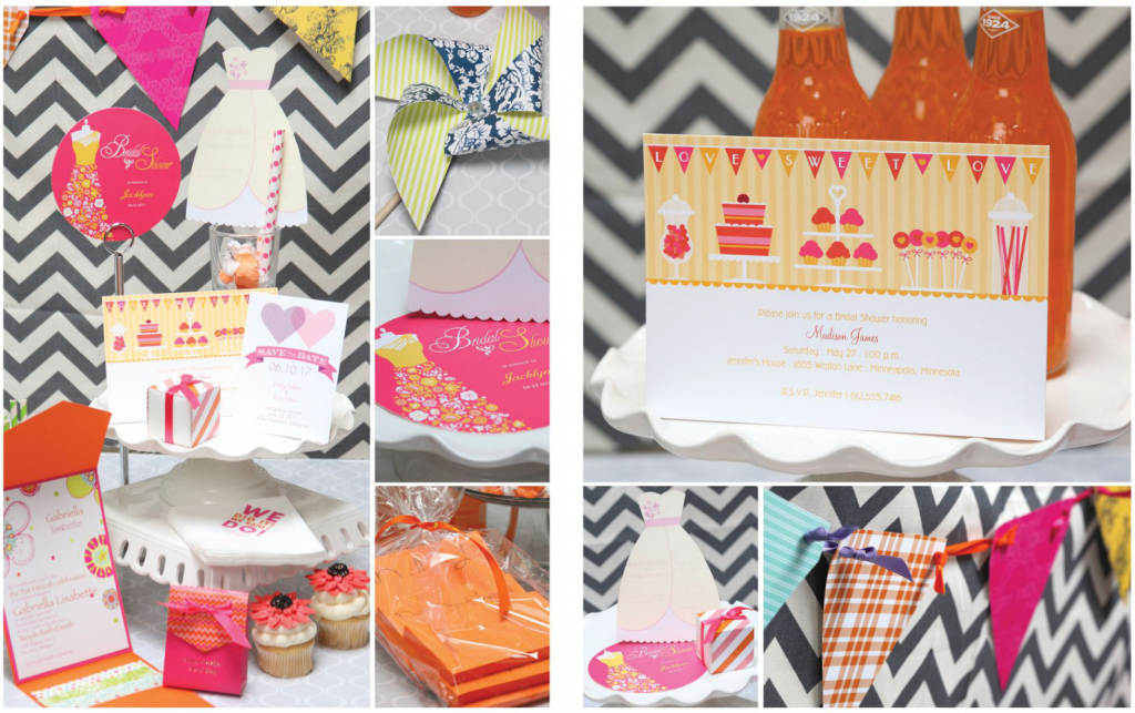 trendy party invitations