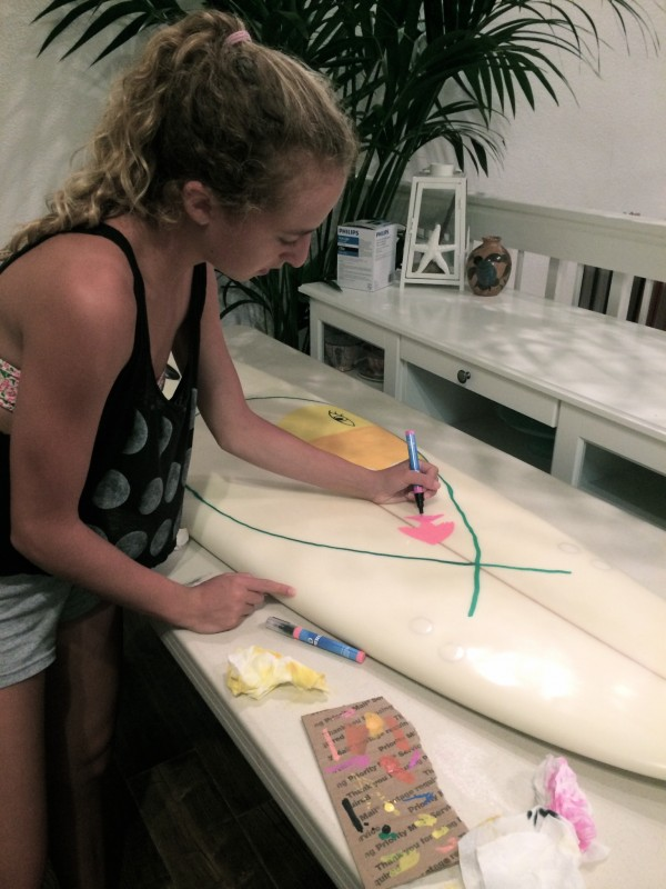 painting surfboards