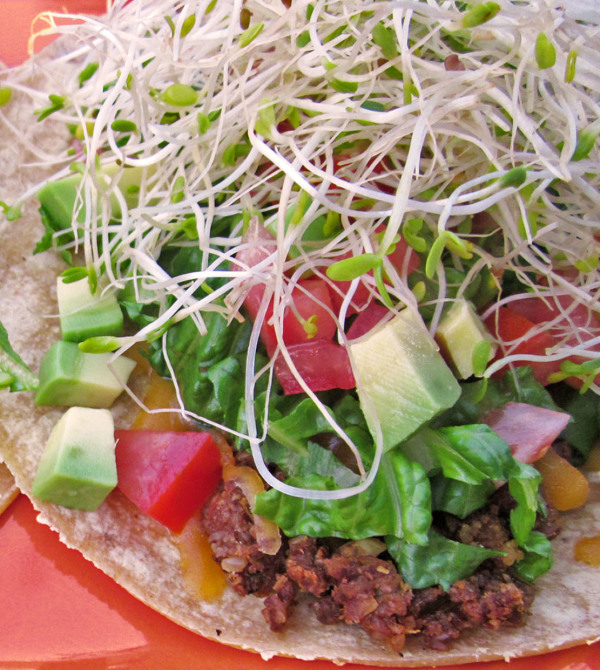 nutty tacos - vegan!